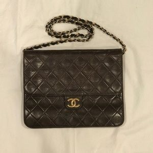 Chanel Vintage Brown Quilted Flap Bag